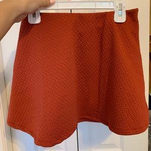 flowing mini skirt